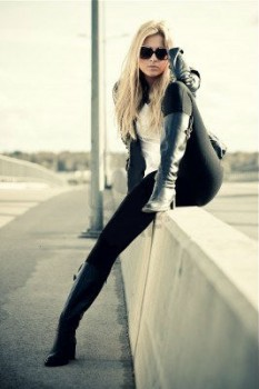 Leather boots are stylish
