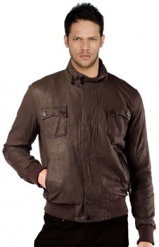 Brown leather bombers are the perfect pick