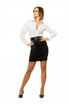 Create Different Styles with One Leather Skirt