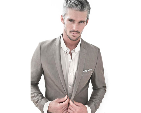 Trendy Streaks Of Hair Color For Men Leather Jacket
