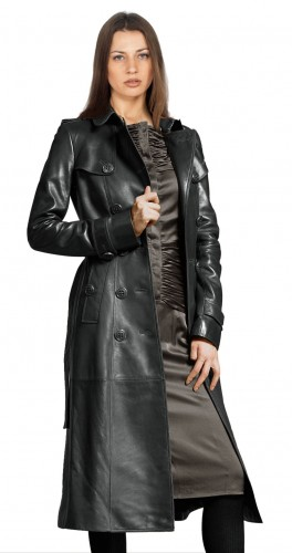 Refined Ways to Pull Over Women's Leather Trench Coats