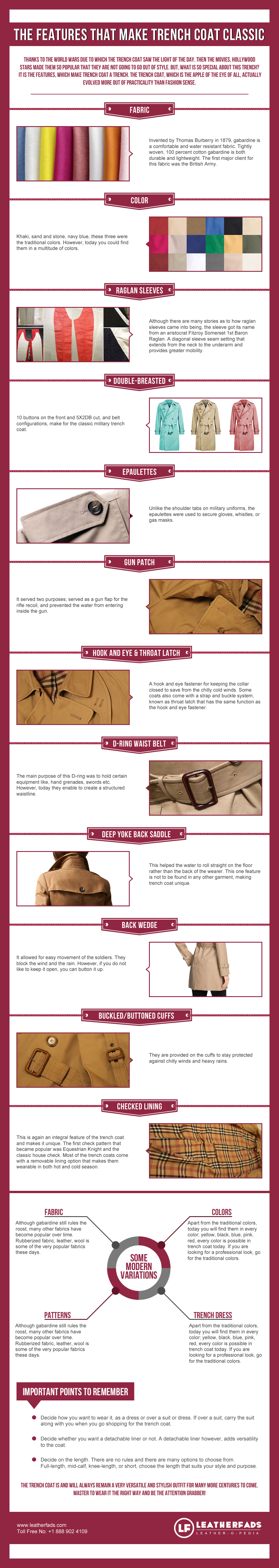 Features that make Trench Coat Classic