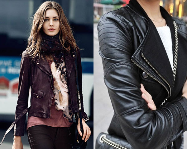 Different Variations In Leather Biker Jacket For Women
