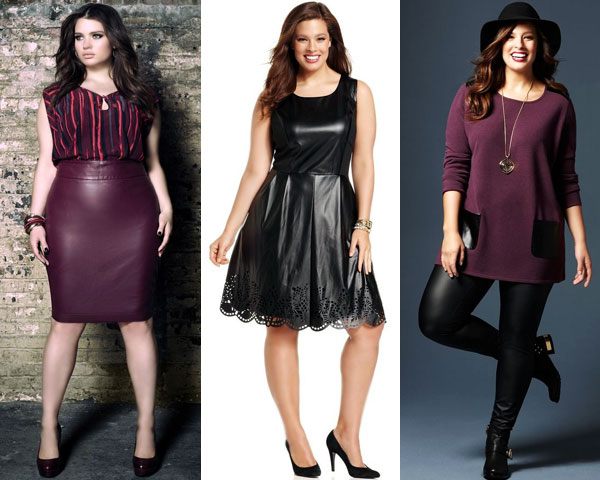 Leather Outfits for plus size women