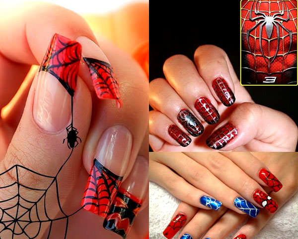 Chic yet creepy nail art ideas for halloween fest leather jacket spider web design prinsesfo Image collections