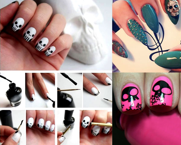 Chic Yet Creepy Nail Art Ideas For Halloween Fest Leather Jacket