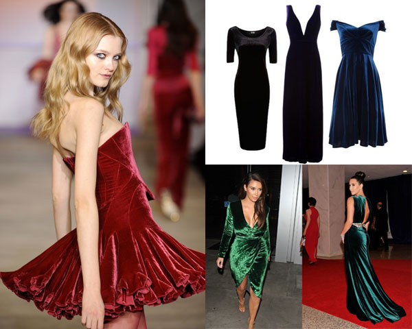 Are Velour Dresses For Women In For 2013 Fall Velvet dresses are a hit among