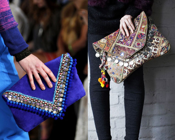 Embellished mini clutch