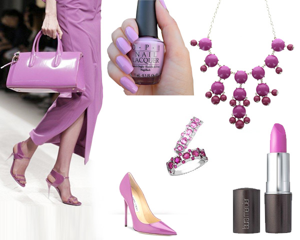 Radiant Orchid colored accessories