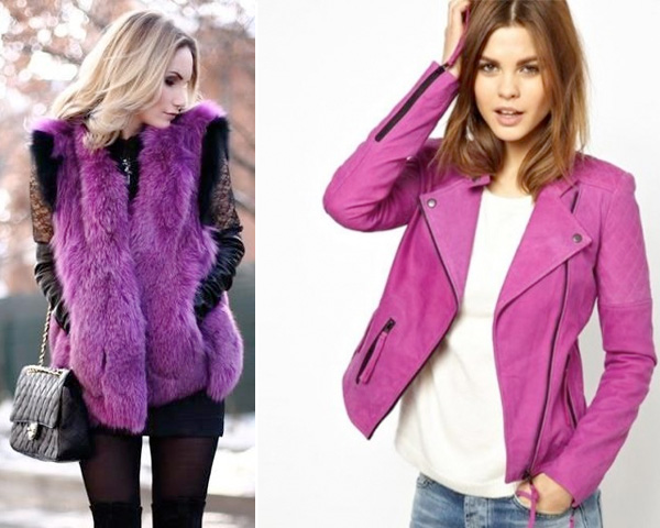Radiant Orchid colored  jackets