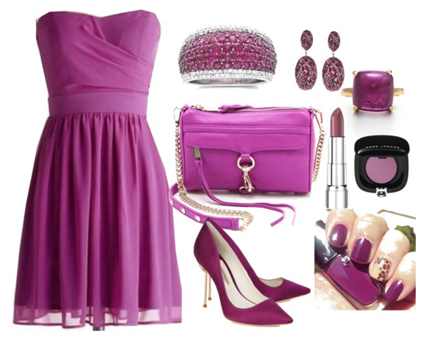 Radiant Orchid colored  sets