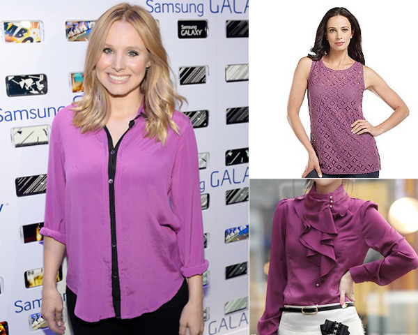 Radiant Orchid colored  shirts_tops