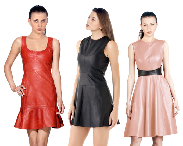 cocktail leather dresses