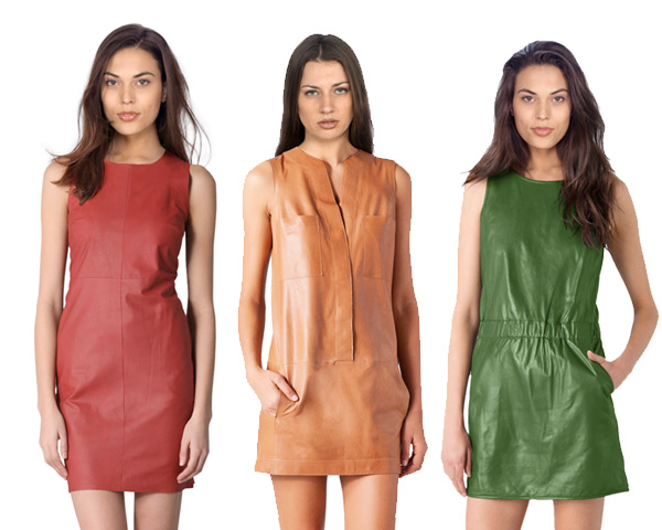 colored leather dresses