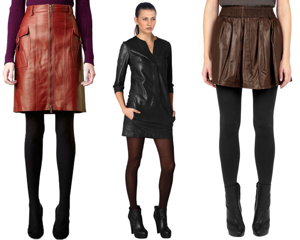 Wearing hosiery under Bright skirts and dresses