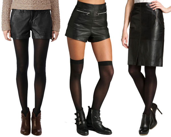 Wearing hosiery with tights