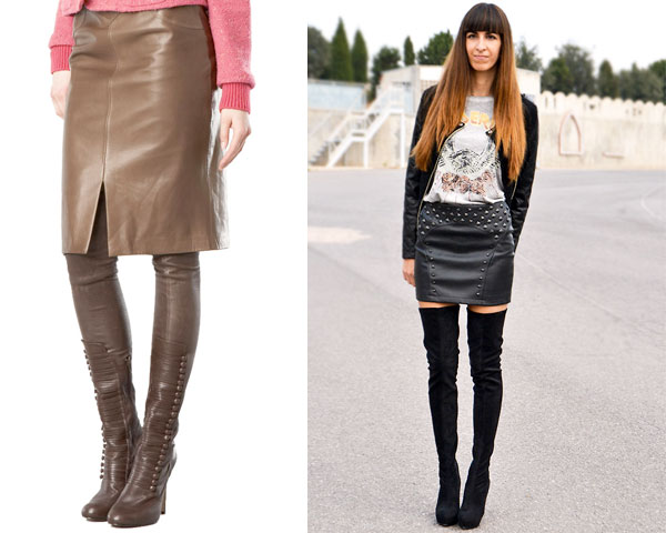 thigh-high socks or boots