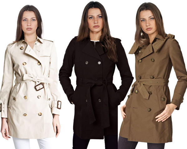 Cotton trench coats