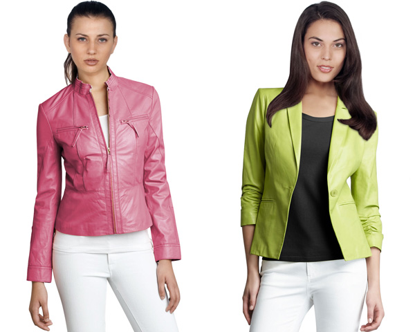 Sporty and light weight leather jacket