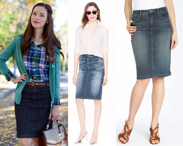 Pencil Denim Skirt - Dress Ala