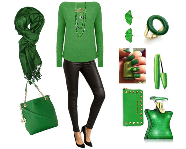 green spring with leather