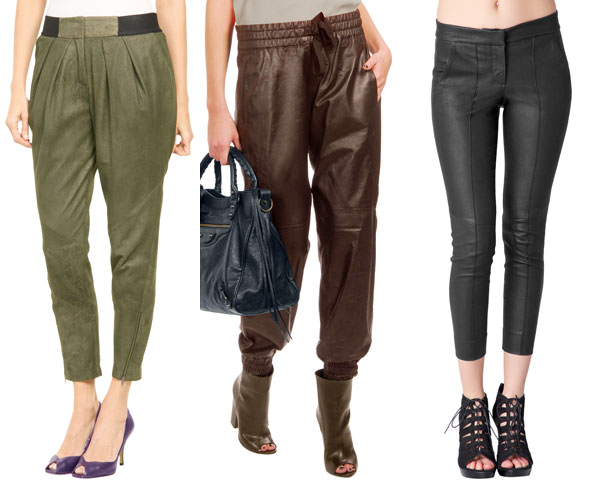 right footwear for leather pants