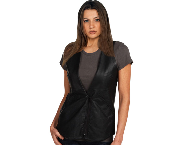 A Perfect Layer leather vest