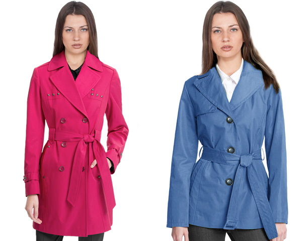 Bright Colorful trench coat