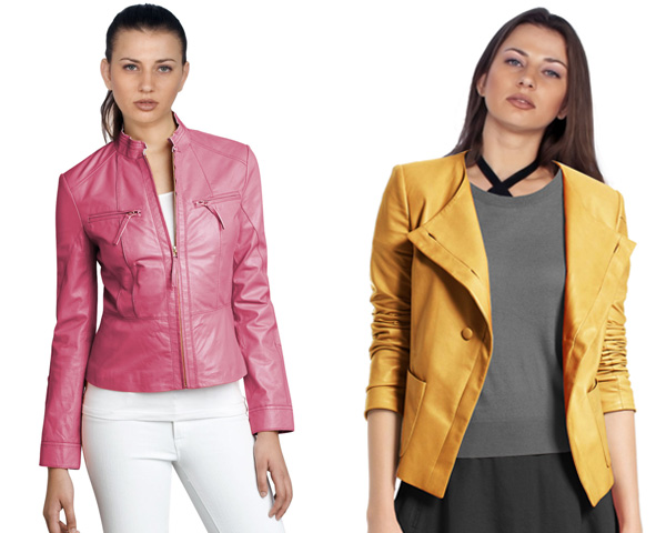 Colorful and Fresh  leather jacket