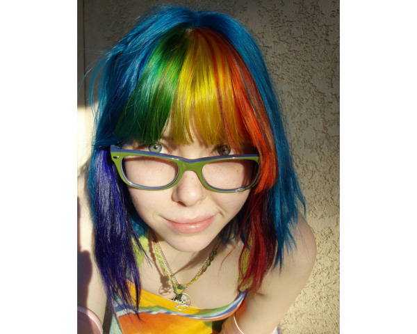 Rainbow Hues hair color
