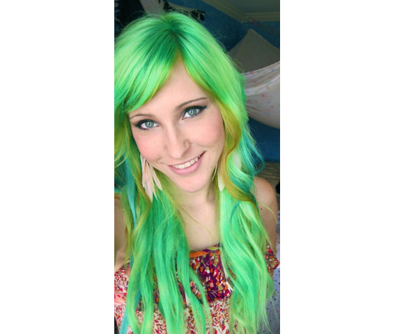 Vibrant Neon hair color