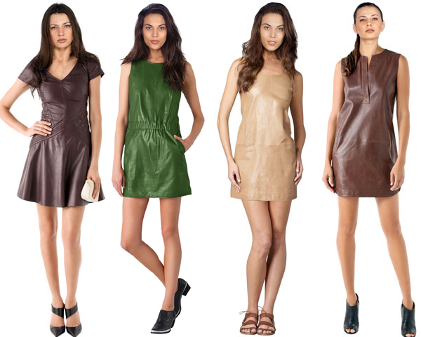 classic leather dresses