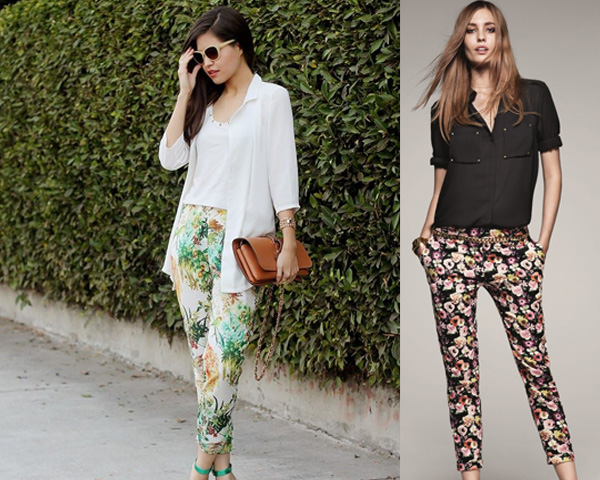 printed pants with Casual shirts